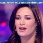 """Manuela Arcuri: """"Dopo il parto sogno il matrimonio con Giovanni"""""""