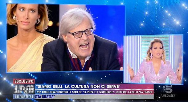 Sgarbi cacciato da Mediaset dopo la puntata della D'Urso
